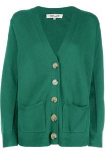 Dvf Diane Von Furstenberg Cardigan Decote Em V - Verde