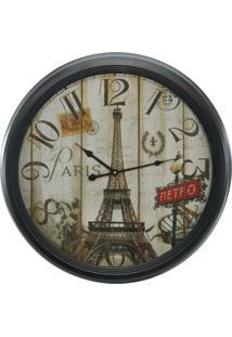 Relógio De Parede Torre Eiffel 62Cm Kasa Ideia