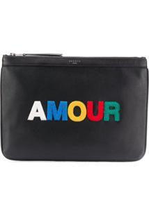 Sandro Paris Clutch 'Amour' - Preto