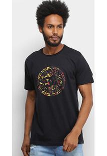 Camiseta Dc Shoes Basic Circle Print Masculina - Masculino-Preto+Verde