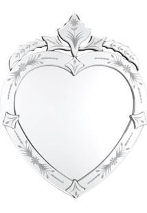 Espelho Veneziano Coracao- Pashmina- Espelho Veneziano Coracao- Branco - Kanui