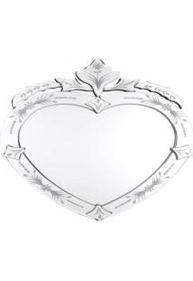 Espelho Veneziano Coracao- Pashmina- Espelho Veneziano Coracao- Branco