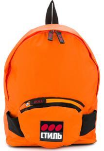 Heron Preston Logo Printed Backpack - Laranja