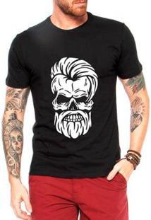 Camiseta Criativa Urbana Caveira Estilosa Masculina - Masculino