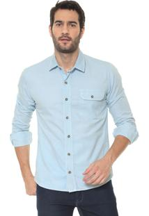Camisa Timberland Slim Dirty Eco Azul