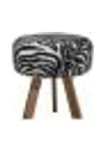 Puff Pelúcia Olívia Com Pés Natural - Zebra