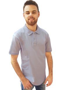 Camisa Polo Manga Curta Villa Rock Azul Claro