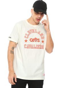 Camiseta Mitchell & Ness Cleveland Cavaliers Off-White