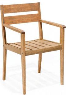 Cadeira Com Braços Em Madeira Maciça Verona Mestra Polisten Jatobá