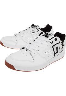 Tênis Dc Shoes Sceptor M Wt Bk Gum Branco