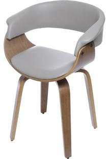 Cadeira Barcelona- Fendi & Madeira- 78X60X40Cm- Or Design
