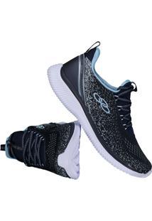 fcbf34ba40 Fut Fanatics. Calçado Tênis Eva Sintético Evasê Acolchoado Prático Feminino  Azul Conforto Fitness Jacquard Make Olympikus