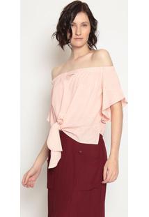 Blusa Ombro A Ombro Com Amarração - Rosa- Operateoperate