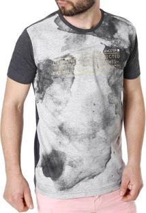 Camiseta Manga Curta Masculina Gangster Cinza