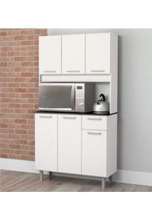 Armário De Cozinha 6 Portas 1 Gaveta Pop Zanzini Branco Lacca