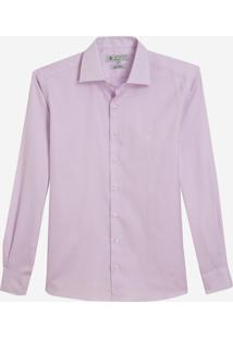 Camisa Dudalina Manga Longa Luxury Fio Tinto Maquinetado Masculina (Rosa Claro, 39)