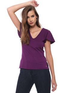Camiseta Triton Lisa Roxa