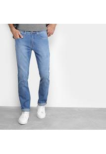 Calça Jeans Slim Calvin Klein Estonada Masculina - Masculino-Azul Claro