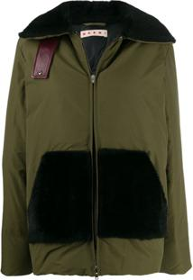 Marni Fur Detail Padded Jacket - Verde