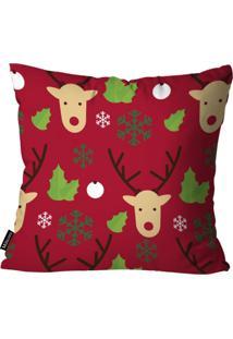Capa Para Almofada Mdecor De Natal Rena Vermelho