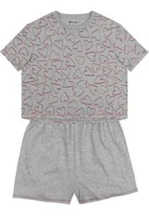Pijama Hering Modelagem Box Em Algodão Feminino - Feminino