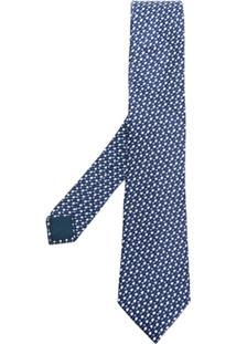 Lanvin Gravata Borboleta De Seda - Azul