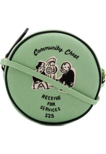 Olympia Le-Tan Bolsa Tiracolo 'Community Chest' - Verde