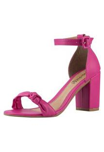 Sandália Feminina Amorelle Salto Alto Nó Pink 2