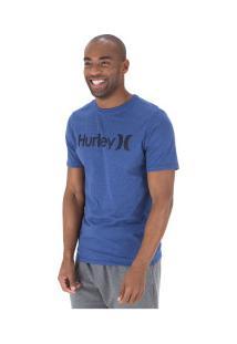 Camiseta Hurley Silk O&O Solid - Masculina - Azul Esc Mescla