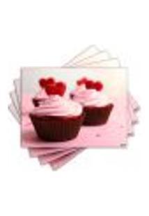 Jogo Americano - Cupcakes Com 4 Peças - 845Jo