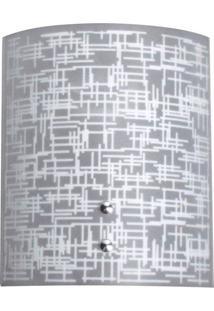 Arandela Calha Silk Textura Branca Attena