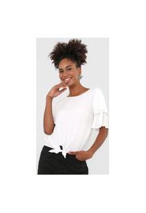 Blusa Mercatto Amarração Branca