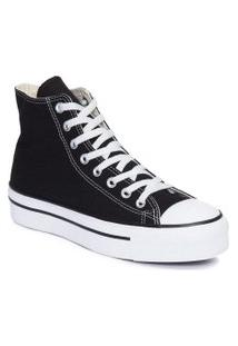 Tênis Converse All Star Chuck Taylor Platform Hi Preto Branco Ct04940001