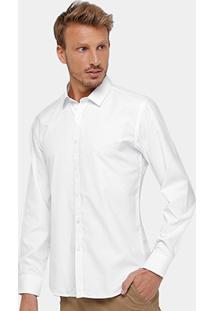 c604a0770c ... Camisa Social Broken Rules Maquinetado Masculina - Masculino-Branco