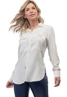 Camisa Mx Fashion Viscose Zaira Off White