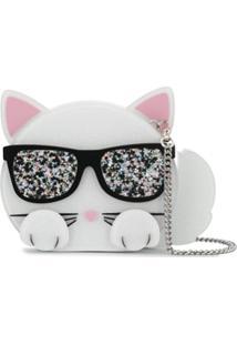 Karl Lagerfeld Bolsa Clutch - Branco