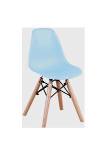 Cadeira Eiffel Inf.S/Br Pp Azul Base Madeira Rivatti
