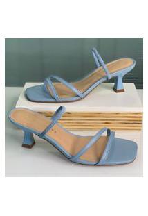 Sandália Em Salto Taça Giulia Domna Giulia Domna Azul