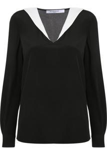 Givenchy Blusa Com Gola Contrastante - Preto