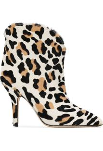 Paris Texas Ankle Boot Animal Print - Neutro