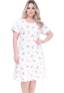 Camisola Paulienne Floral Cereja - Off-White - Feminino - Algodã£O - Dafiti