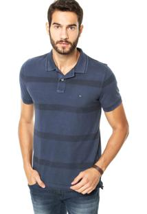 Camisa Polo Tommy Hilfiger Slim Fit Azul