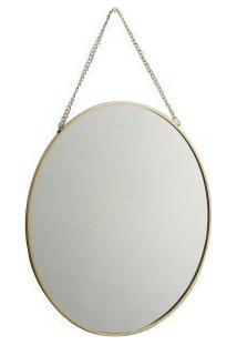 Espelho Decorativo Redondo Dourado 24Cm Kv0119 Btc