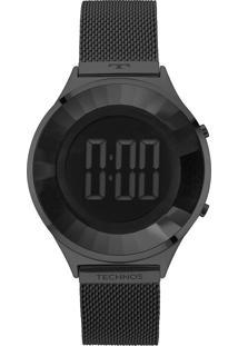 72eb0faafa2 E Clock. Relógio Feminino Aço Tamanho Grande Digital Technos ...