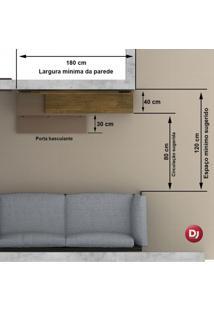Painel Para Tv Até 50 Polegadas Com Espelho Turim Dj Móveis Demolição/Off White