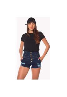 T-Shirt Daniela Cristina Basic Gola Redonda 602Dc10396 Preto