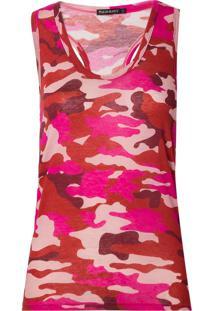 Regata Le Lis Blanc Camuflada Ii Malha Estampado Feminina (Camuflado Pink, Gg)