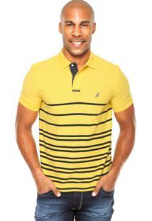 Camisa Polo Nautica Classic Fit Amarela