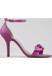 Sandália Feminina Salto Fino Com Laço Pink