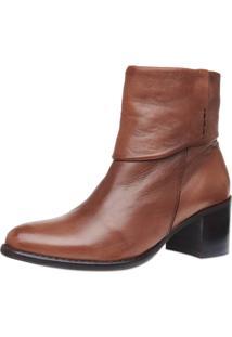 Ankle Boot Pelica Gola Corello Bota Marrom